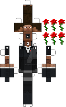 MineCraft: BrownMan (Ray Narvaez Jr) Paper Doll by Testsubject276