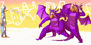 Let's just be fat abusive penguin dragons by BayneezOne