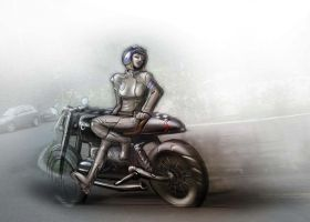 Cafe Racer Girl by mikelyden