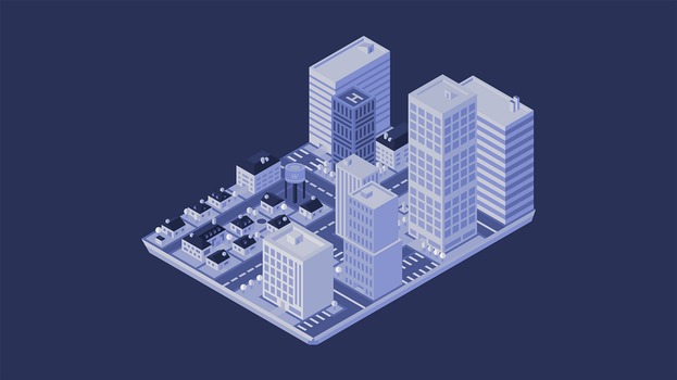 Isometric Town by kartine29