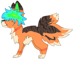 Fluffy Haired Adoptable Open by AnamayCat