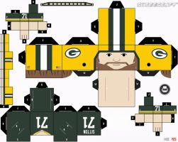 Josh Sitton Packers Cubee by etchings13