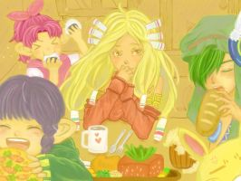 LoM : eating together by Nisahoo
