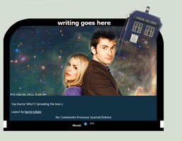 Doctor Who and Rose by faerie-lullaby