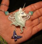 The Last Unicorn - handmade Necklace by Ganjamira