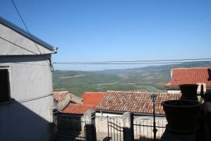 over the roofs from Motovun by ingeline-art