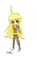 RWBY Yang Xiao Long Chibi Time Skip Version by Harukajarts