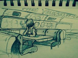 Lost In A Train of Thoughts by Nomiephobia