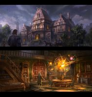 Astrologists' club by wang2dog