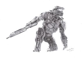 Halo 4 Drawing by DirtyPaws13