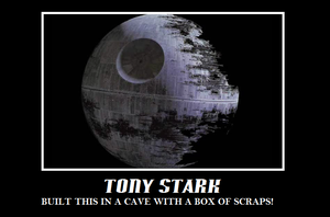 Tony built the death star with a box of scraps by Endeavor4ever