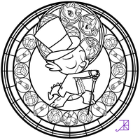 Stained Glass: Spike's Tux -line art- by Akili-Amethyst