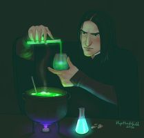 The Potions Master by upthehillart