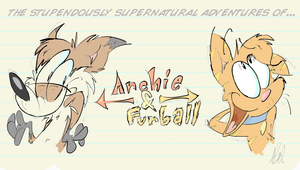Archie and Furball by dogatemyshrooms