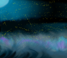 Field at Night by horselife1236
