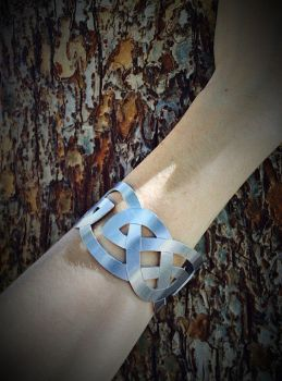 Hand Sawed Celtic Knot Cuff Bracelet by TheWickedGriffin