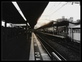 Waiting For The Train by AzumiChan