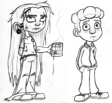 character sketches by Daniel-McCloskey