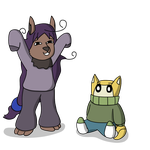 Cheri And Compy In Sweaters by TheArgoNinja