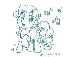 Pinkie Singing Sketch by LateCustomer