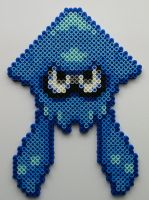 Splatoon Blue Perler Beads by kamikazekeeg