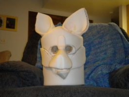 Arctic Wolf Fursuit Head Science Project WIP!!! 1 year ago in Costumes
