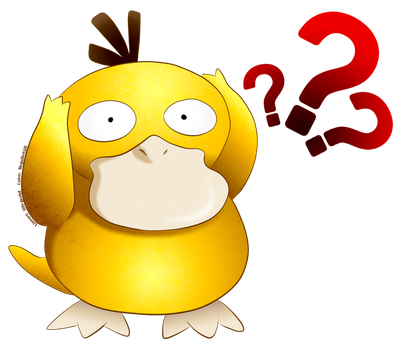 Pocket Monster:  PSYDUCK colored lineart by MegaBe820