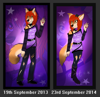 Avril .:Before and After:. by ScottishRedWolf