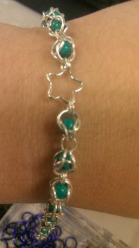 Captured Turquoise with Star Chain Bracelet. by misledone
