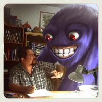 A monster on my work station by renecordova