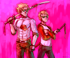 Awesome Strider Bros by InfernalGuard
