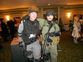 Solid Snake and Big Boss by Etrigan423