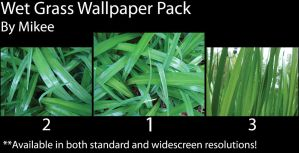 Wet Grass Wallpaper Pack by mikee99