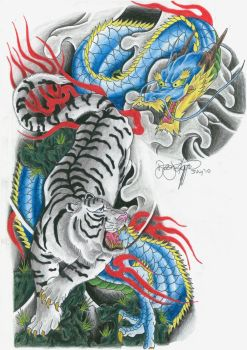 Tiger and Dragon by ryanschipper89