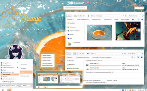 Mac Orange | Windows 7 by Waatt