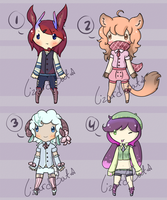 More Kemonomimi Adopts (Open) by LizardBat