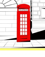 Red phone box by Z199Y360
