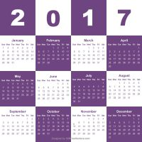 Free Download 2017 Calendar by 123freevectors