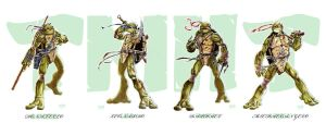 TMNT color by Darkness33