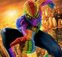 Rainbow Spiderman by ropa-to