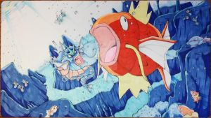 Custom Playmat: Magikarp's Meal by ccayco
