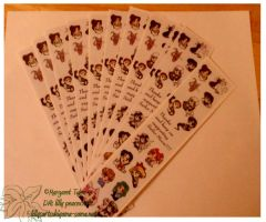 SOLD OUT- Bookmarks by lilly-peacecraft