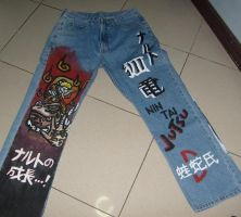 Naruto Painted on Jeans-front- by Lain-Navi