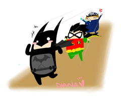 Batman and Robin : Illegal by Ahsayuni-Love
