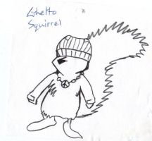 Ghetto Squirrel by GhettoMole