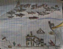 Angry Sharks by abdiel13