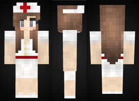 minecraft: Nurse Girl Skin Preview by mineskinz