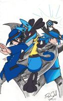 lucario sir aaron and riley by RaveSolid13