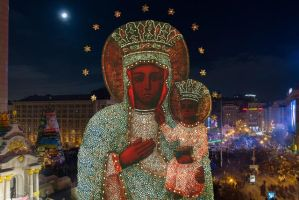 Mother of God and Maidan Revolution 2014, Ukraine by Zakharii
