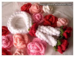 1st Crochet garland by imuya
